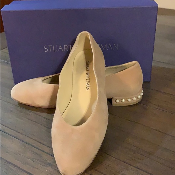 factory outlets limited guantity authentic quality Stuart Weitzman Shoes   Chic Pearl Cashew Suede Flats   Poshmark